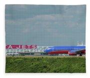 Odd Couple Delta Airlines Southwest Airlines Art Fleece Blanket