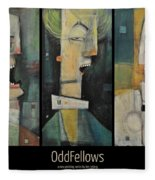 Odd Fellows Triptych Fleece Blanket