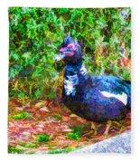 Odd Looking Duck In Swansboro Nc 2 Fleece Blanket