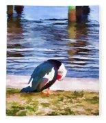Odd Looking Duck In Swansboro Nc Fleece Blanket