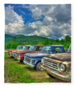 Odd Man Out Fords And Friend  Fleece Blanket