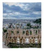 Odeon Of Herodes Atticus - Athens Greece Fleece Blanket