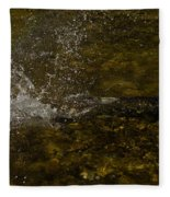 Of Fishes And Rainbows - Wild Salmon Run In The Creek Fleece Blanket