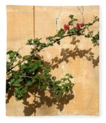 Of Light And Shadow - Bougainvillea On A Timeworn Plaster Wall Fleece Blanket