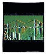 Of Time And The Savannah River Bridge Fleece Blanket