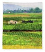 Off The Beaten Track Vietnam Viewed Through Train Window Filters  Fleece Blanket