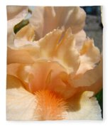 Office Art Irises Flower Orange Iris Flower Giclee Art Prints Baslee Troutman Fleece Blanket