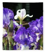 Office Art Prints Iris Flower Botanical Landscape 30 Giclee Prints Baslee Troutman Fleece Blanket