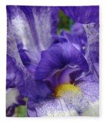 Office Art Prints Iris Flowers Purple White Irises 40 Giclee Prints Baslee Troutman Fleece Blanket