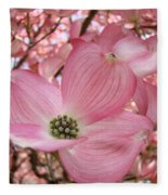 Office Art Prints Pink Flowering Dogwood Tree 1 Giclee Prints Baslee Troutman Fleece Blanket