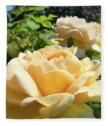 Office Art Prints Rose Peach Orange Rose Flower Baslee Troutman Fleece Blanket