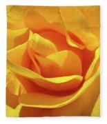 Office Art Prints Roses Orange Yellow Rose Flower 1 Giclee Prints Baslee Troutman Fleece Blanket