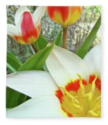 Office Art Tulips Tulip Flowers Giclee Art Prints Florals Baslee Troutman Fleece Blanket