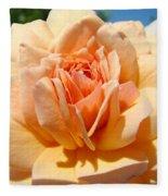Office Artwork Roses Peach Rose Flower Giclee Baslee Troutman Fleece Blanket