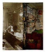 Office - Ole Tobias Olsen 1900 - Side By Side Fleece Blanket