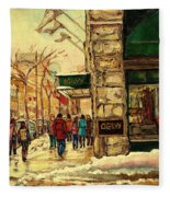 Ogilvys Department Store Downtown Montreal Fleece Blanket