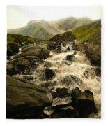 Ogwen Falls Fleece Blanket