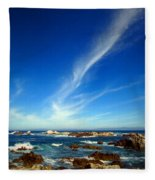 Oh The Beauty  Monterey Peninsula Ca  Fleece Blanket