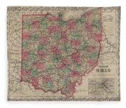 Ohio Fleece Blanket