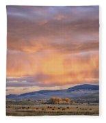Ohio Pass Colorado Sunset Dsc07562 Fleece Blanket