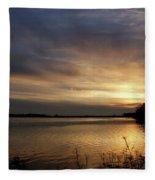 Ohio River Sunset Fleece Blanket