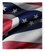 Ohio State Flag Fleece Blanket