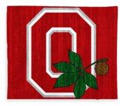 Ohio State Wood Door Fleece Blanket
