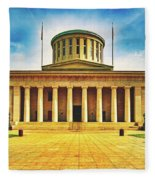 Ohio Statehouse Fleece Blanket