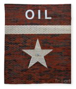 Oil And Texas Star Sign Fleece Blanket