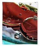 Oil And Water 23 Fleece Blanket