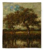 Oil Painting Landscape Fleece Blanket