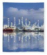 Oil Refinery Industry Plant Fleece Blanket