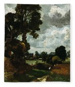 Oil Sketch Of Stoke-by-nayland Fleece Blanket