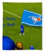 O.k. Blue Jays Let's Play Ball Fleece Blanket