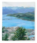 Okanagan Blue Fleece Blanket