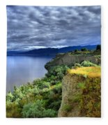 Okanagan Lake On A Thursday Fleece Blanket