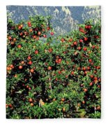Okanagan Valley Apples Fleece Blanket