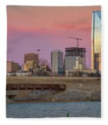 Okc Sunset Fleece Blanket