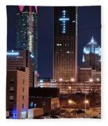 Okc Towers Fleece Blanket