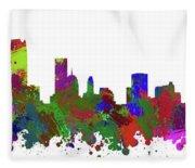Oklahoma City Skyline Painted Fleece Blanket
