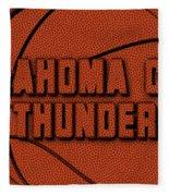Oklahoma City Thunder Leather Art Fleece Blanket