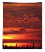 Oklahoma Sky At Daybreak  Fleece Blanket