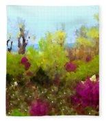 Oklahoma Spring Colors Fleece Blanket