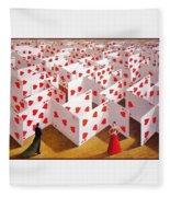 Olbinski Paints Mozart Rafal Olbinski Fleece Blanket
