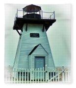 Olcott Lighthouse Fleece Blanket