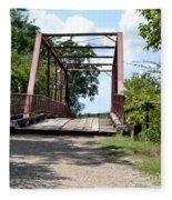 Old Alton Bridge In Denton County Fleece Blanket