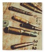 Old Ammunition Fleece Blanket