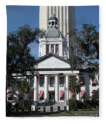 Old And New State Capitol Fleece Blanket