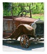 Old Antique Vehicle Fleece Blanket