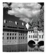 Old Architecture  Nuremberg Fleece Blanket